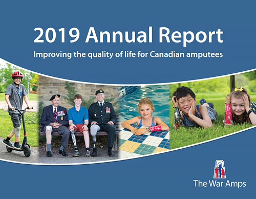 The cover of the 2019 annual report that links to the online version.